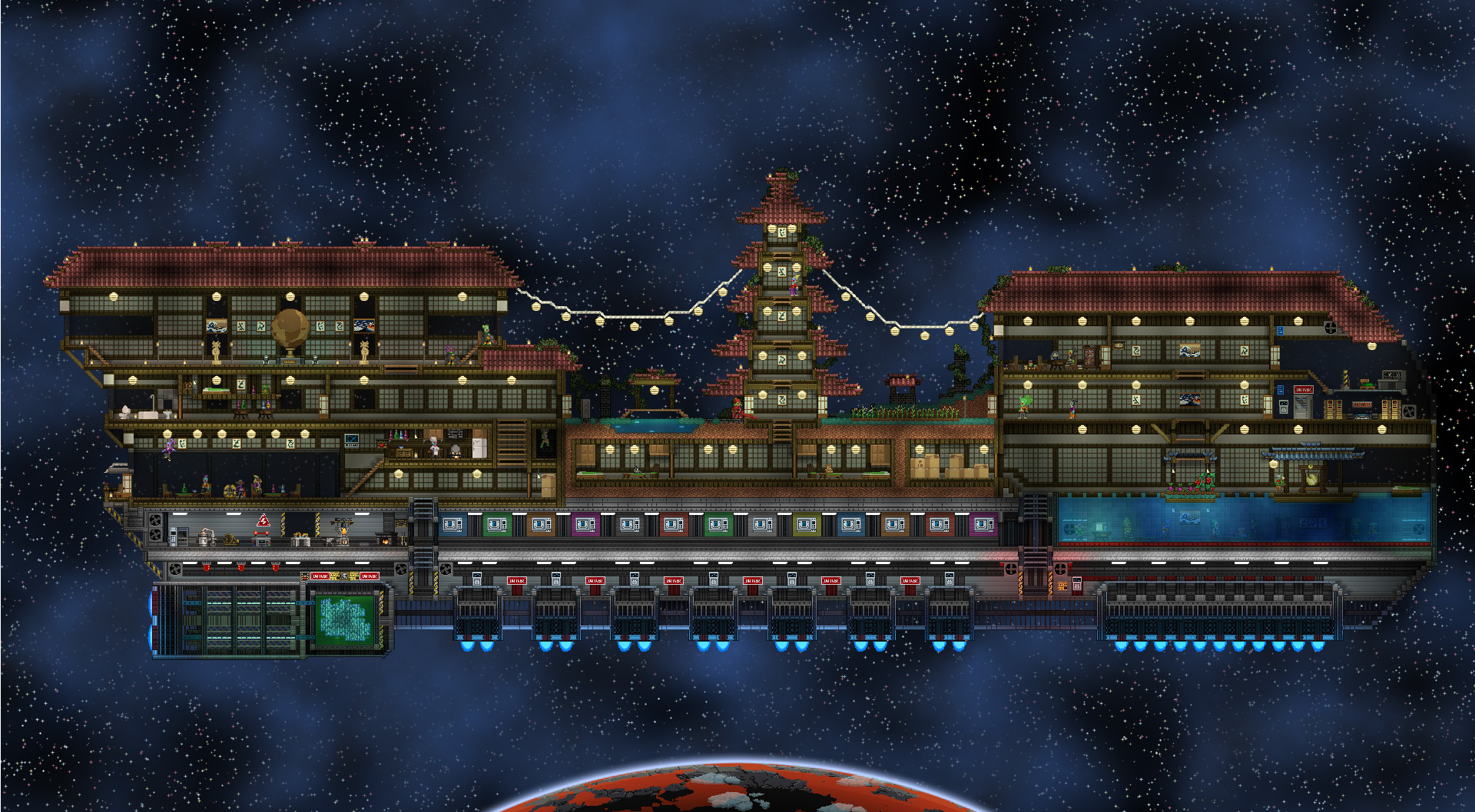 Pictures of Hylotl Starbound - #rock-cafe