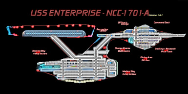Star Trek USS Enterprise NCC-1701-A Exploration Vessel