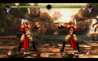 Red&White Mileena B In-game