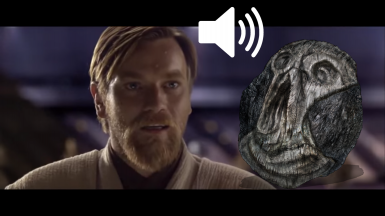 Obi-Wan Hello There carving sound