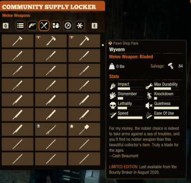 Unbreakable Silence Melee Weapons Pack