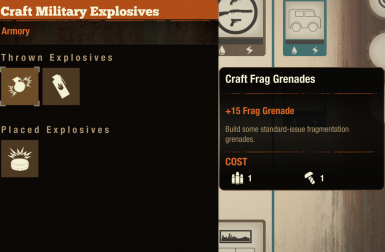 Craft more military explosives for lesser materials.