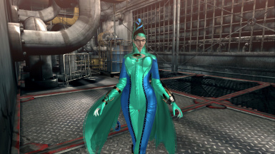 Bayonetta PC Ice Witch Royal Blue and Sea Green Costume reskin Mod