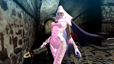 Bayonetta PC Platinum Princess Pink and Silver Old Costume Mod