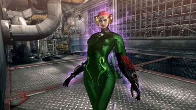 Bayonetta PC Jeanne's 'Poison Ivy' Costume (Green with red hair)