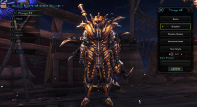EX Tigrex MALE armor Drachen Layered (MALE) - Death Stench armor