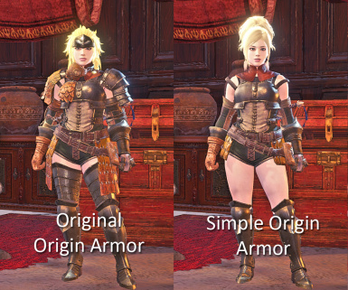Simple Origin Layered Mod (female) at Monster Hunter: World - Mods
