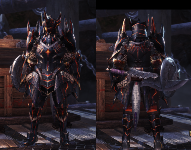 Akantor XR Male Armor Samurai Layered for MALE and FEMALE