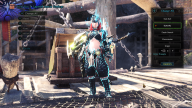 Female Nargacua Armor Butterfly Layered