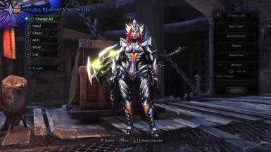 Female Valfalk Armor Blossom Layered