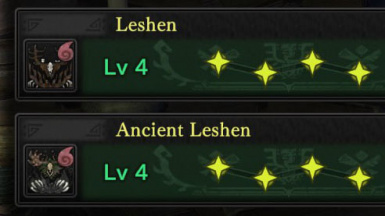 add leshen to Monster 3 Star Weakness Icon Indicator