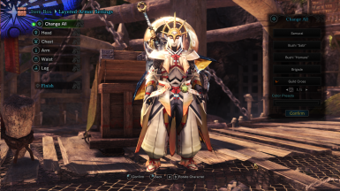 Tempest Kermes Male Armor - Guild Cross Layered - For Male and Female