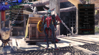 Female Anat Rage Armor - Butterfly Layered Armor - With Boobs Pychics