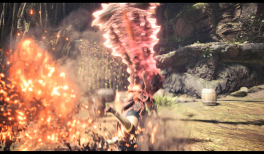 Charge Attack explosion