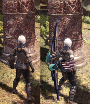 Hidden Weapons When Sheathed (Invisible on Back)