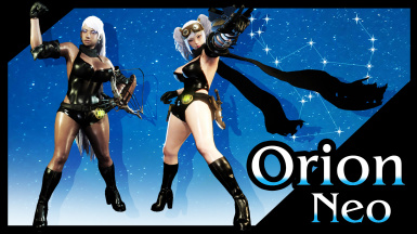 Orion Neo Custom Outfit (Bodysuit Scarf Shorts and Heeled Boots)