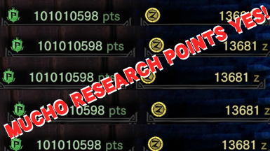 Asterisk x10 and x5 Research Points Cheat