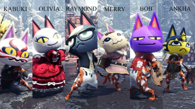 Animal Crossing Cat Heads for Palico