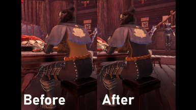 Commission layered back color fix
