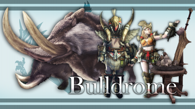 Returning Monsters Bulldrome and Bullfangos (armors weapons and a statue included)