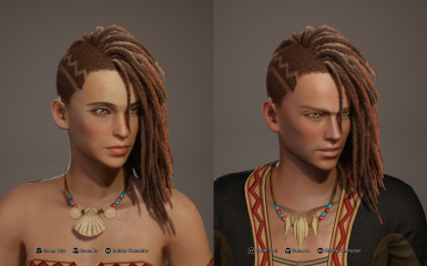 Hairstyle 9-2 female and 26 - 2 male Replacer