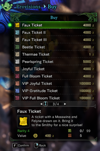 Iceborne Ready Layered Ticket Shop List At Monster Hunter World Mods And Community