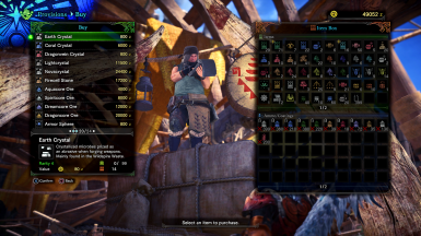 ALL Items in Shop at Monster Hunter: World - Mods and community