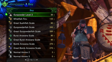 Sorted Shop (All items) at Monster Hunter: World - Mods and