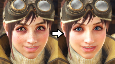 Prettier Handler Face Texture and Eye Colors