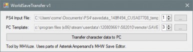 WorldSaveTransfer - Transfer PS4 save data to PC
