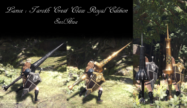 Lance Taroth Crest Claw Royal Edition and Empress Lance Styx RE