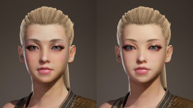 Youthful Female Face Model and Textures