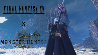 FFXV Aranea character AND weapon mod for female at Monster Hunter