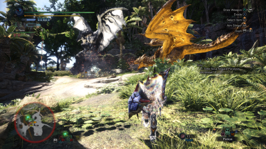 Silver Rathalos and Gold Rathian at Monster Hunter: World ... Gold Rathian And Silver Rathalos