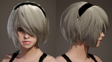YoRHa No 2 Type B Hairstyle