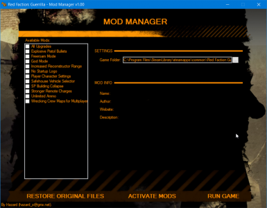 Mod Manager Re-mars-tered