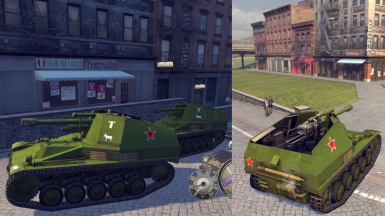 Mafia 2 MOD Wespe Tank German and Russian Army (Repaint)