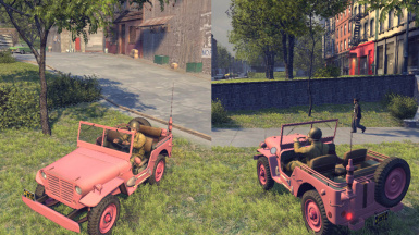 Mafia2 MOD CAR British Desert Pink Jeep