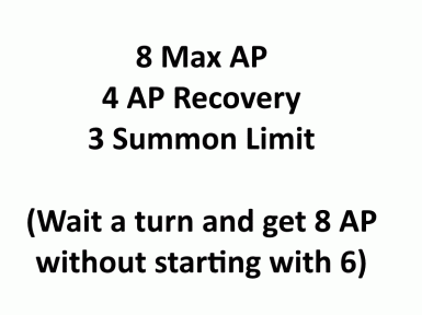 8 Max AP 4 AP Recovery 3 Summon Limit