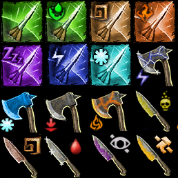 Throwing Weapons armory- DE