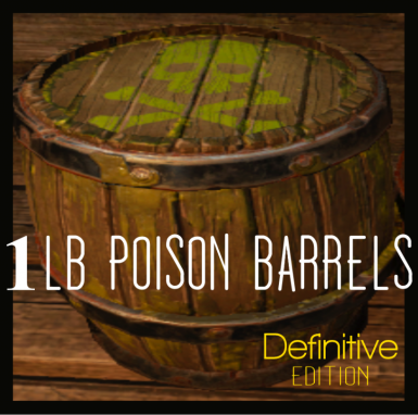 1lb Poison Barrels - Convenience And Portability For The Undead Soul