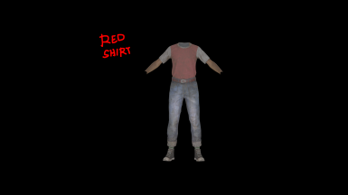 Red Shirt and Jeans. Yeah its small. Call the cops, IDGAF!