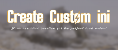 Create Custom ini Continued Edition