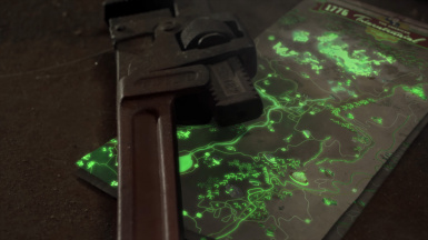 Glow in the dark map