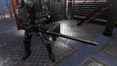 Black .50 cal Machine Gun Retexture