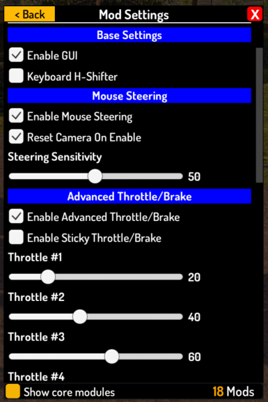 Advanced Keyboard and Mouse Controls
