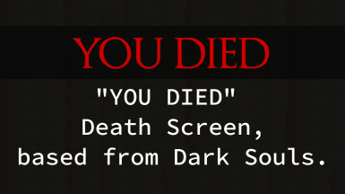 YOU DIED Death screen