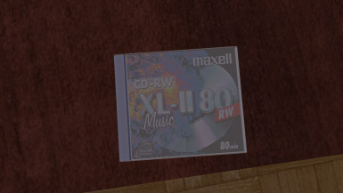 Real CD and Cover (Maxell CD-RW)