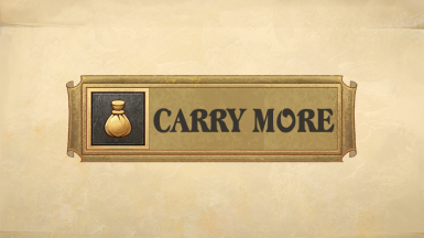 Carry More - Set Your Own Encumbrance Limit