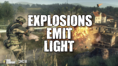 Explosions Emit Light